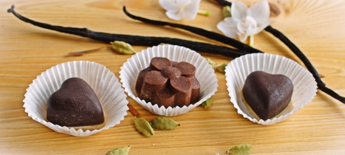 Domácí plněná čokoláda bez kofeinu