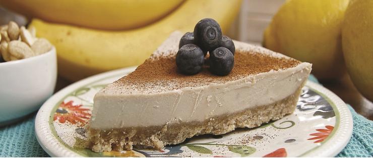 Raw cheesecake s banánem